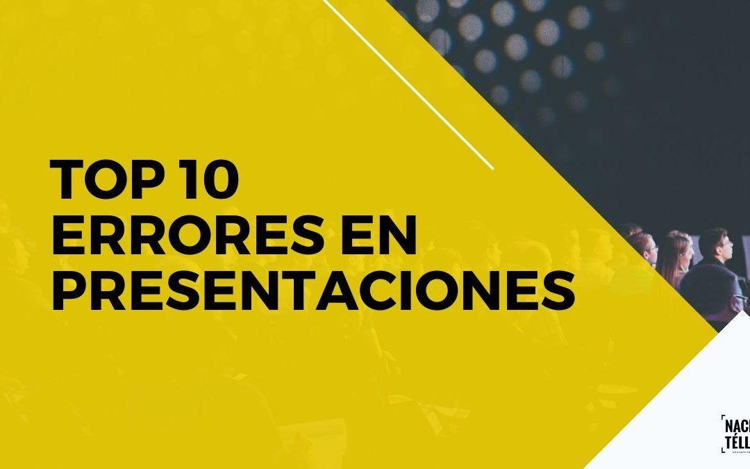 TOP 10 Errores en las presentaciones